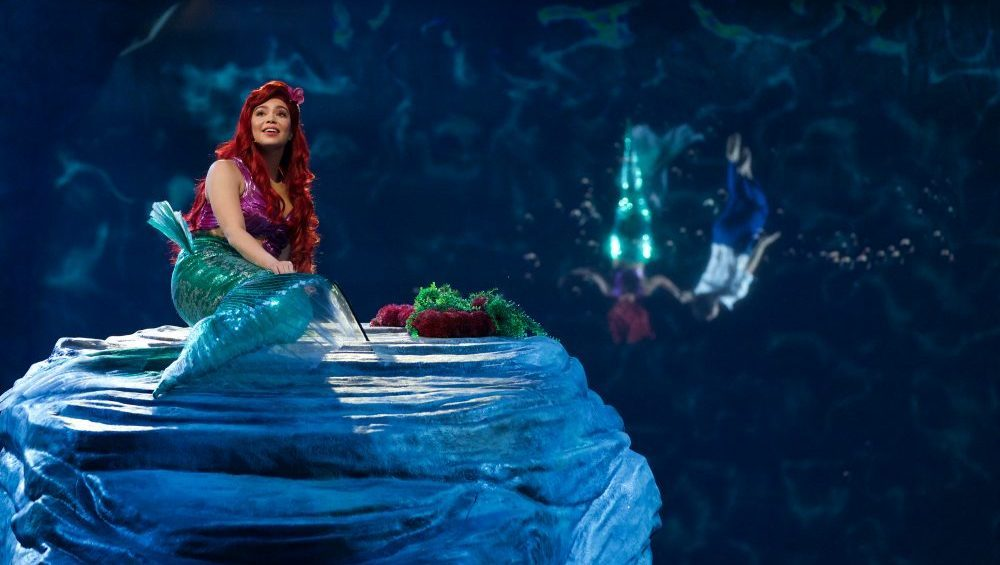 The set in The Little Mermaid Live! Image Source: ABC