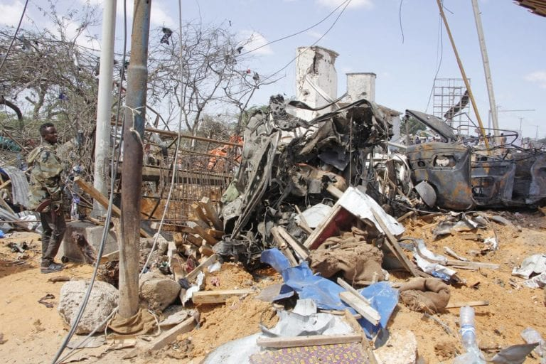 Truck bomb explosion kills at least 90 people in the capital city of Somalia