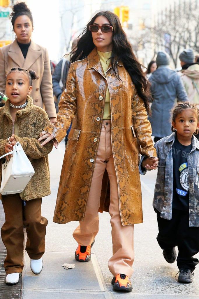 Kim Kardashian wears unreleased Yeezys