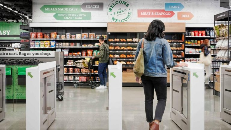 Amazon Go grocery store has no cashiers and is run by cameras