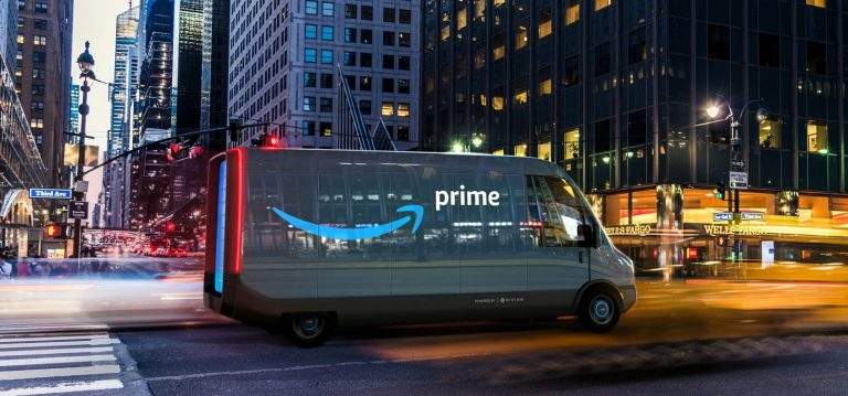 Amazon's progress on making 100,000 Rivian electric delivery vans by 2030