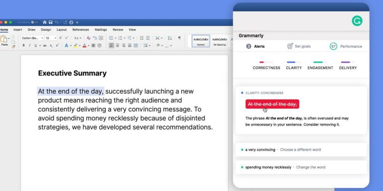 Grammarly now supports Microsoft Word on Mac