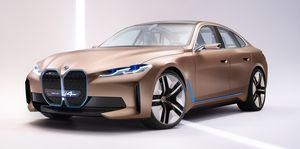 BMW Concept i4: The four-seater EV compared to the Taycan and Kona