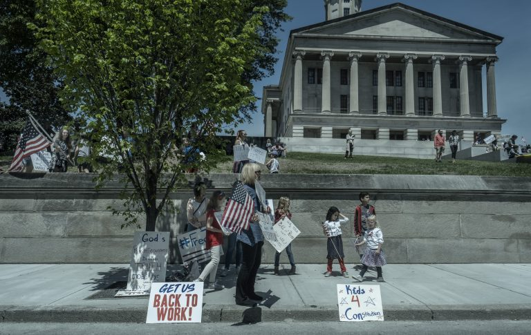 Protesters' and politicians' hands tied as health departments take charge