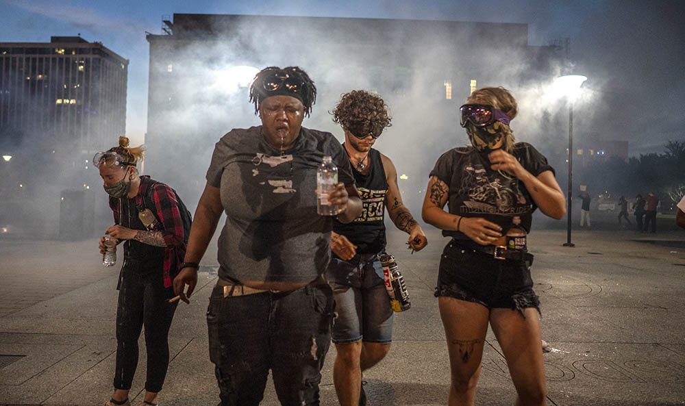 ©John Partipilo Photography: Tear gas overwhelmed this group of women in Nashville, May 30, 2020.
